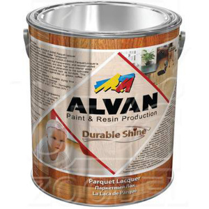 "Лак паркетный ALVAN  ""Durable Shine""  глянц. 4л"